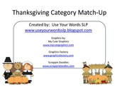 Thanksgiving Category Match Up