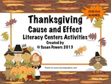 Thanksgiving Cause and Effect Centers Activities for Readi