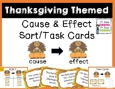 Thanksgiving Cause and Effect Sort/Task Cards