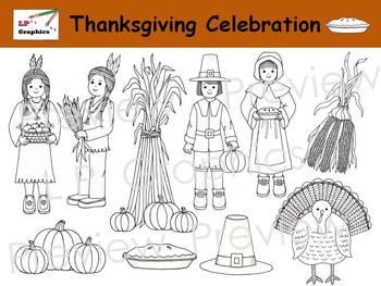 Thanksgiving Celebration Clip Art