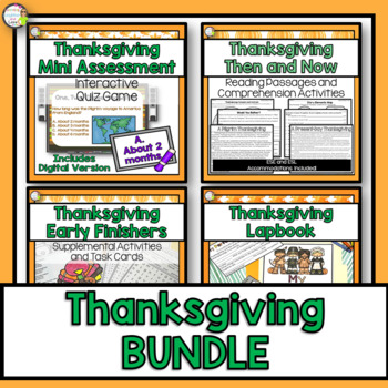 Thanksgiving Celebration Unit with Lap book