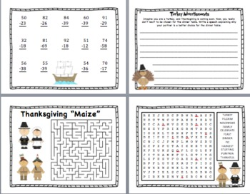Thanksgiving Center Activity Packet