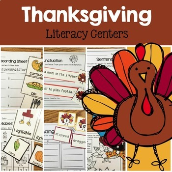 Thanksgiving Math and Literacy Centers Bundle