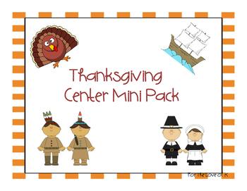 Thanksgiving Center Mini Pack FREEBIE