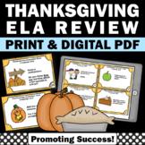 Thanksgiving Literacy Centers, 1st 2nd Grade Thanksgiving Literacy Activities
