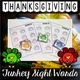 Thanksgiving Center ~ Turkey Sight Words