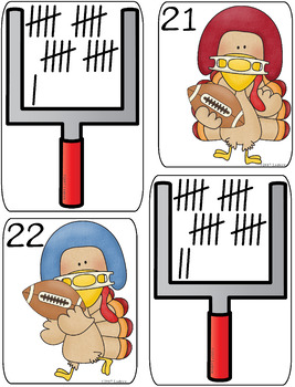 Thanksgiving Centers Activities Counting To 30 Math Centers Tally Mark Ten Frame