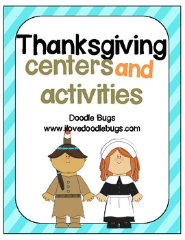 Thanksgiving Centers & Fun Activities {Math & Language}