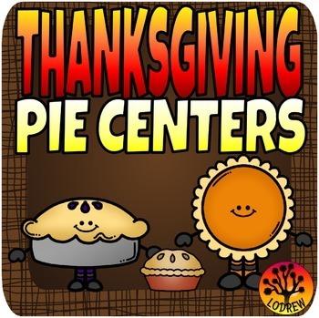 Thanksgiving Centers Pie Centers Math Literacy Kindergarten Preschool SPED