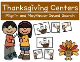 Thanksgiving Centers - Pilgrim and Mayflower Sound Search - Beginning Sounds