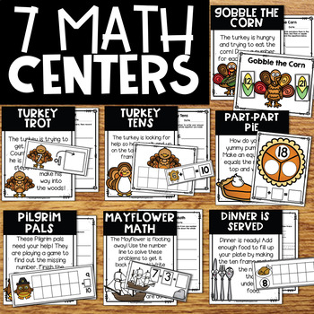 Thanksgiving Centers | Thanksgiving Math & Literacy Centers & Turkey Craft