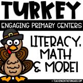 Thanksgiving Activities | Math & Literacy Centers | Turkey Craft