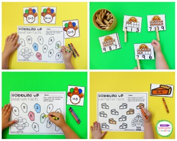 Thanksgiving Centers and Activities for Pre-K/Kindergarten