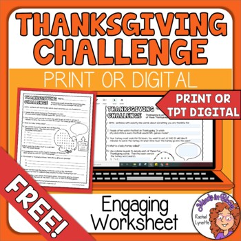 Thanksgiving Challenge! Free Scavenger Hunt Type Activity