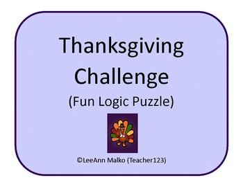 Thanksgiving Challenge - Fun Logic Puzzle