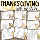 Thanksgiving Math Activity   Challenge Math Story Problems