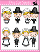 Thanksgiving Characters Clip Art - Personal or Commercial Use