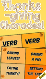 Thanksgiving Charades + Parts of Speech Practice! (Freebie)