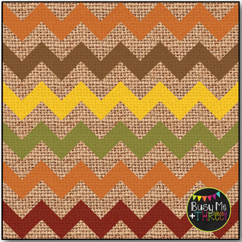Thanksgiving Chevron on Burlap Digital Papers {Commercial Use Digital Graphics}