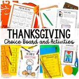 Thanksgiving Choice Board
