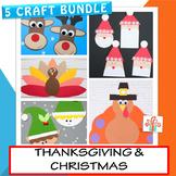 Thanksgiving / Christmas 5 Crafts Bundle
