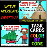 Thanksgiving Christmas Activities Color by Code Plural Nouns