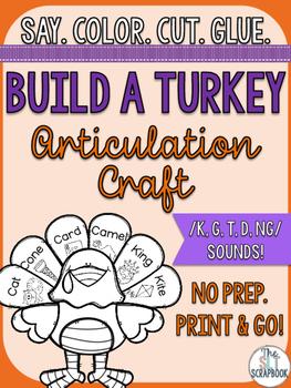 Thanksgiving/Christmas Articulation Craft- No Prep- /k g t