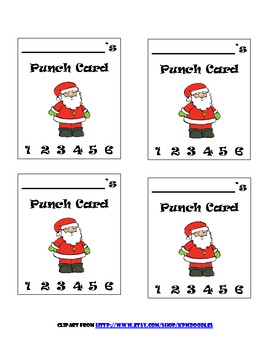 Thanksgiving & Christmas Behavior Punch Cards