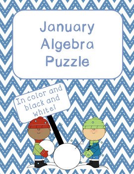 Thanksgiving, Christmas, and more Algebra Puzzles