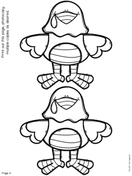 Thanksgiving/Christmas Turkey Articulation Craft- No Prep- sh ch j th zh sounds