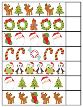 Thanksgiving Christmas Winter Complete the Pattern Activity
