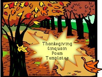 Thanksgiving Cinquain Poem Templates