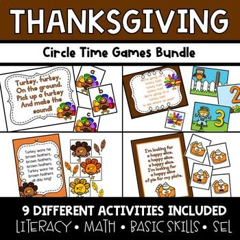 Thanksgiving Circle Time Activities **BUNDLE**