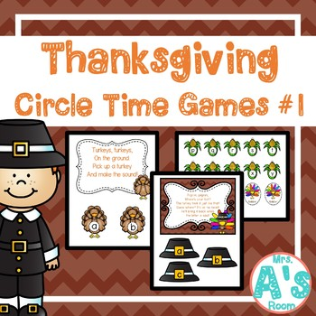 Thanksgiving Circle Time Activities Set #1