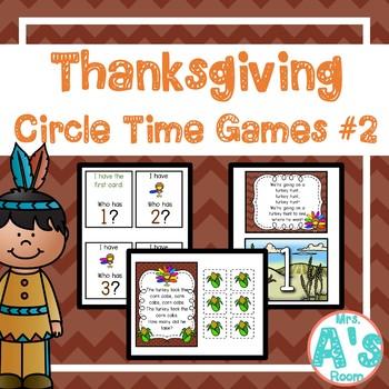 Thanksgiving Circle Time Activities Set #2