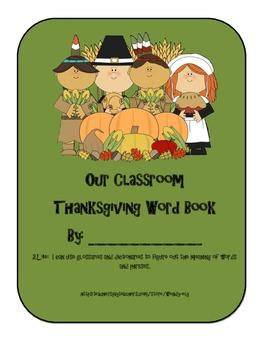 Thanksgiving Class Book