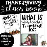 Thanksgiving Writing: Class Book