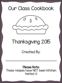 Thanksgiving Class Cookbook