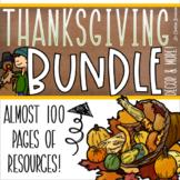 Thanksgiving Class Decor Behavior Management Math and Writing Activities BUNDLE