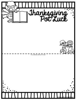 Thanksgiving Class Party Letter