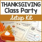 Thanksgiving Class Party Setup Kit