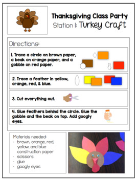 Thanksgiving Class Party Setup Kit