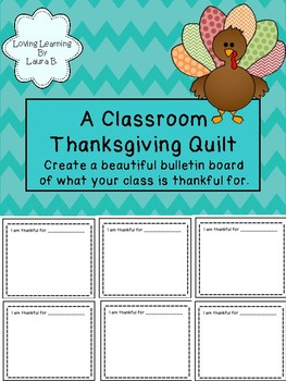 Thanksgiving Class Quilt - creates a beautiful bulletin board