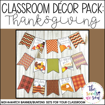 Thanksgiving Classroom Decor Banner Pack