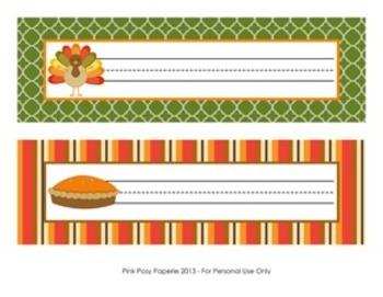Thanksgiving Classroom Decor Desk Name Plates