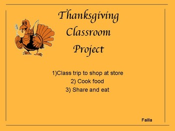 Thanksgiving Classroom Project