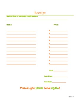 Thanksgiving Classroom Store Lesson Plan