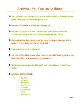 Thanksgiving Classroom Store Lesson Plan
