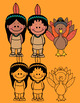 Thanksgiving Clip Art 1, Pilgrims and Indians