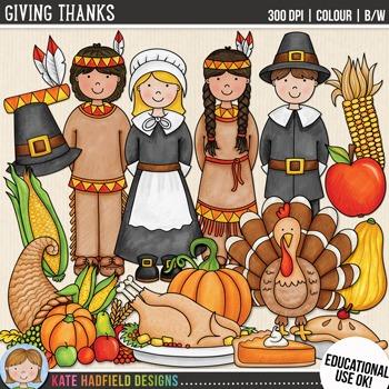 "Thanksgiving Clip Art: ""Giving Thanks"""